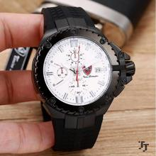 Brand name watches chronograph quartz mens watch waterproof banana with watch band