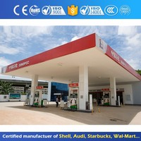 Outdoor Equipment Steel Frame Gas Station Canopy Design