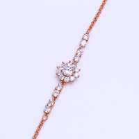 Popular fashion rose gold gemstone bracelets for young girls