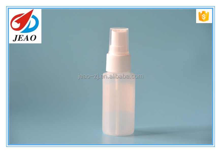 Girl Lady use smart B-100 30ml HDPE water perfume spray plastic bottle for cosmetic daily skin care
