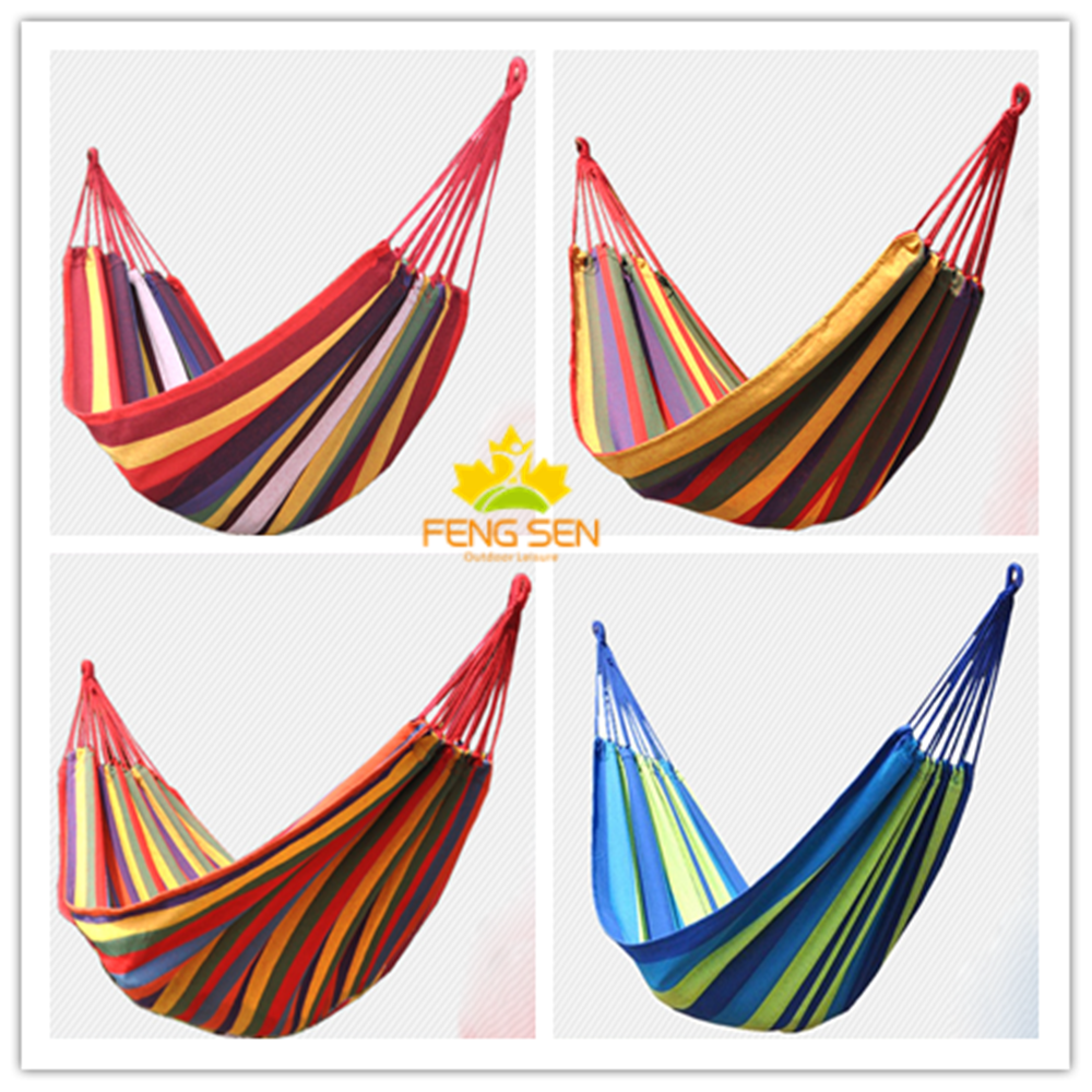 Traveling relaxing camping double hammock swings