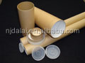 Custom cardboard tube packaging poster paper tube for shipping mailing box with plastic ends