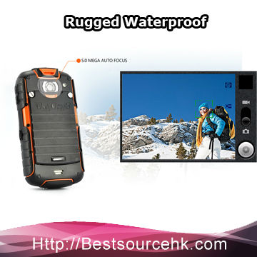 Group sourcing 3.2 inch ROCK V5 GPS WIFI Rugged Phone Waterproof Android 3G rugged Mobile Phone Qualcomm MSM8225-cherry!