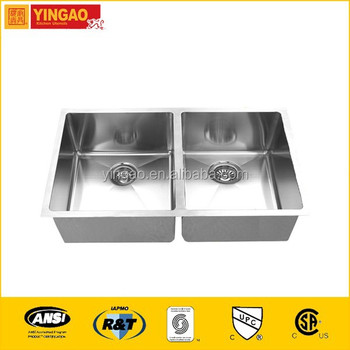 Undercoating brushed kitchen sink faucet for undermount sink, white cast iron kitchen sink