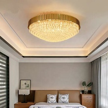New Arrival Luxury Modern Simple Crystal Bedroom Brass Ceiling Light For House Ceiling Lights