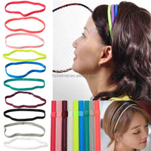 Unisex running headband sport head wrap yoga headband with various colors