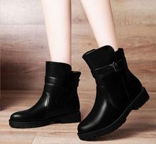 Hot selling Winter Ankle Boots for Women Large Size lady Leather Boots