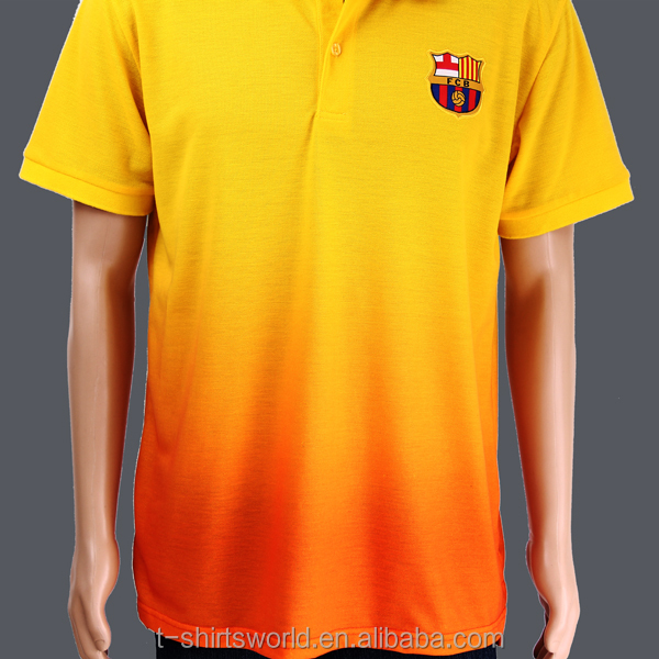 Cheap Microfiber Polyester Dye Sublimation Printing Dry Fit Soccer Polo T shirt