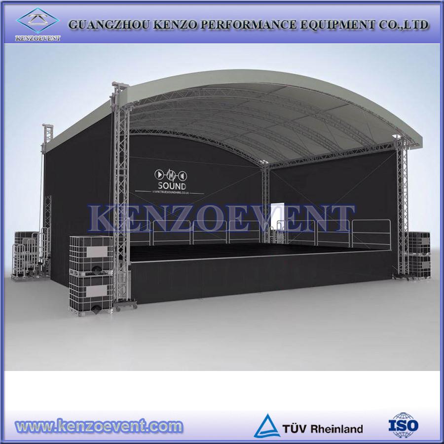 Adjustable Compact Aluminum Outdoor Concert Stage Design