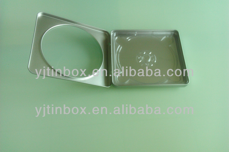 square CD box with clear window