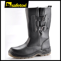 Genuine cow upper safety boots,safety boots steel toe cap,Steel plate warm safety boots H-9425