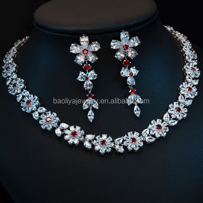 New Product Jewellery for Girls Fashion Zircon Jewelry Set
