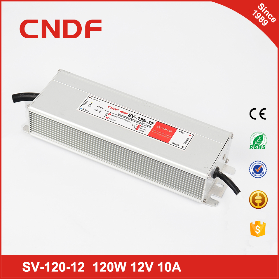24 months warranty 12vdc constant voltage led driver 120w waterproof 12v 120w power supply