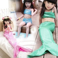 Mermaid children a bathing suit Girls in bikini mermaid 3 times The little mermaid swimsuit foreign trade children's clothes