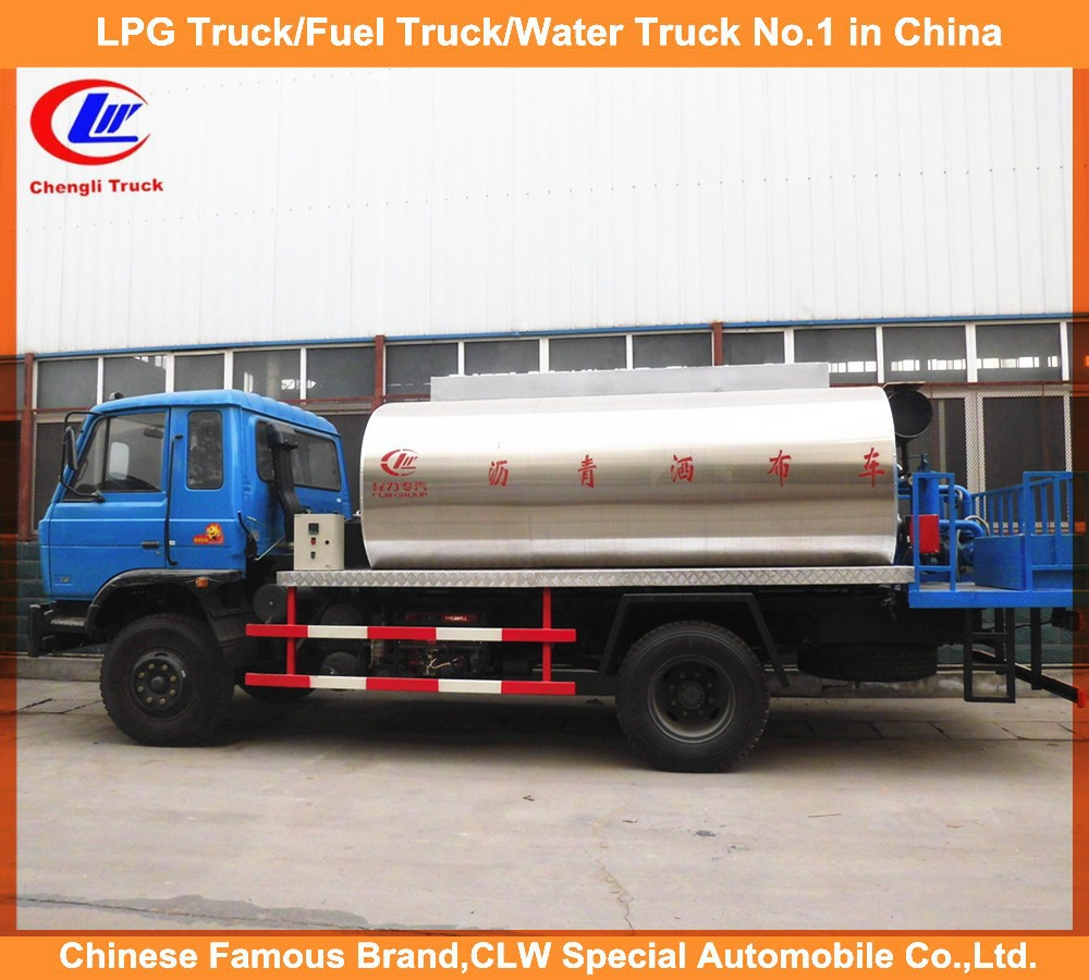 China construction trucks road paver dongfeng 4*2 8ton asphalt sprayer truck