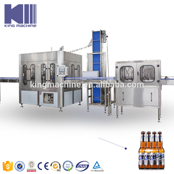 Commercial beer bottle filling line made in China for sale