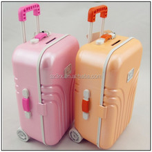 NEW Function Luggage Case Money bank/Custom Make High Quality Plastic Money Banks/OEM design PVC Plastic Money Banks