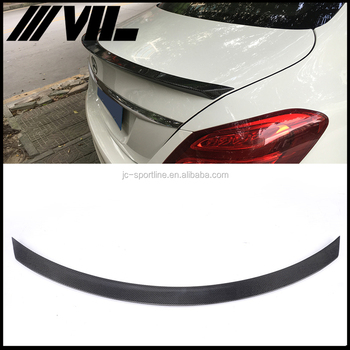 Auto Carbon Fiber Rear Spoiler for Mercedes W205 Sedan 4 Door