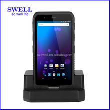 2017 new phone I62H with docking NFC 1D and 2D barcode scanner rugged smarthone window s handheld terminal