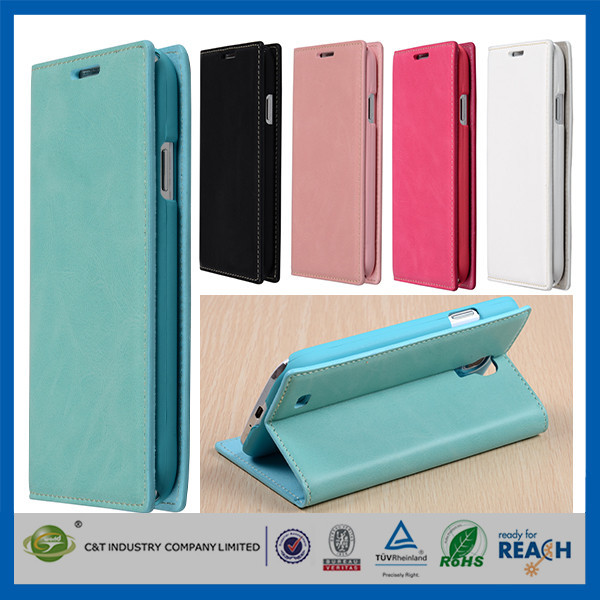 C&T Cheap Mobile Phone Protective stand leather case for samsung galaxy s4 i9500