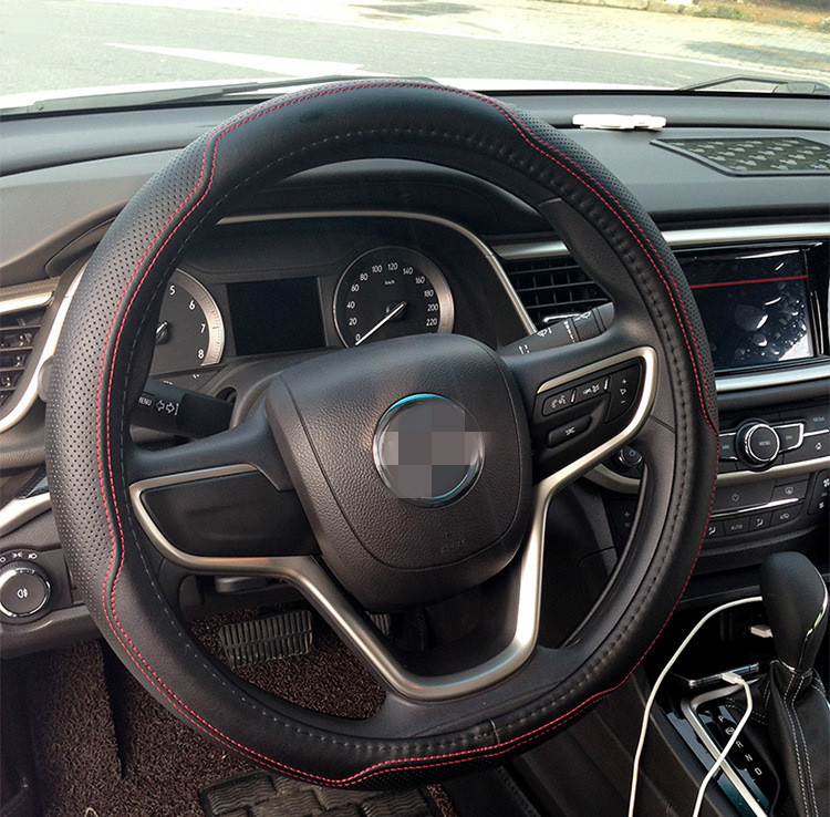 Factory offer leather material wholesale car steering wheel cover for LEXUS