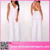 Popular Summer Casual Custom Made Ladies white jumpsuit