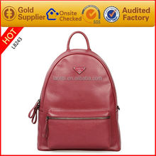 2015 new fashion simple school backpack for girls leather backpack bags