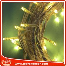 Outdoor copper wire hanging christmas lights