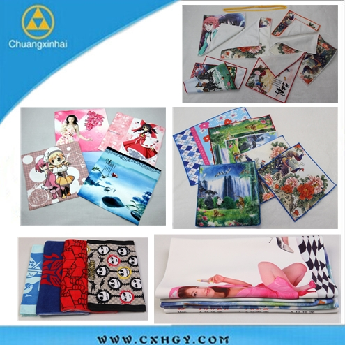 Digital printing Logo handkerchief with embroidery for sale