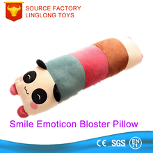 Plush Long Cushion Large Round Tube Cushion Cylinder Panda Emoji Massager Cushion