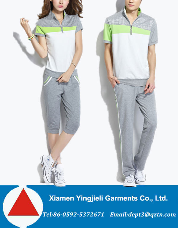 2014 Newest Tracksuit Women Tracksuit Polyester Cotton Material For Couple Set