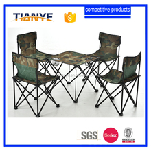Folding Camping Picnic Table and Chair Set 5 Pieces for Kids or Family Outdoor Beach BBQ Card Fishing with Carrying Bag