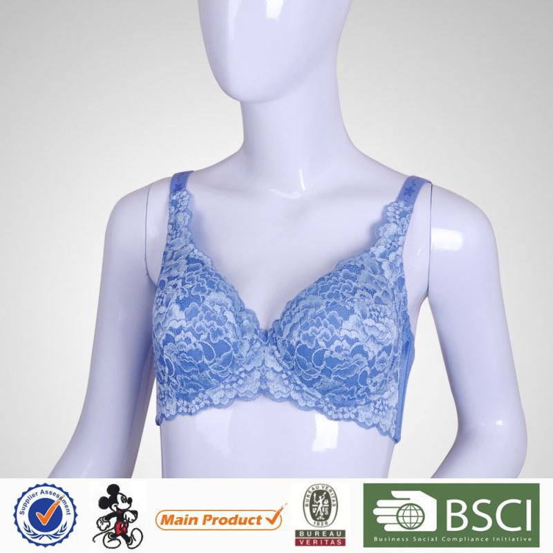 China Comfortable Flower Lace body shape bra For ladies