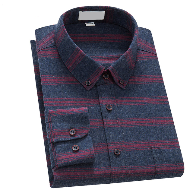 Cotton button down long sleeve casual slim fit mens dress shirts