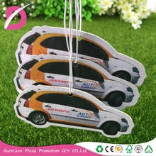 Promotional Car Shaped Paper Various scents auto paper air freshener