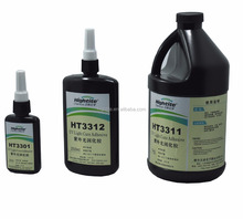 hightite brand uv glue for bonding glass with metal to produce glass table