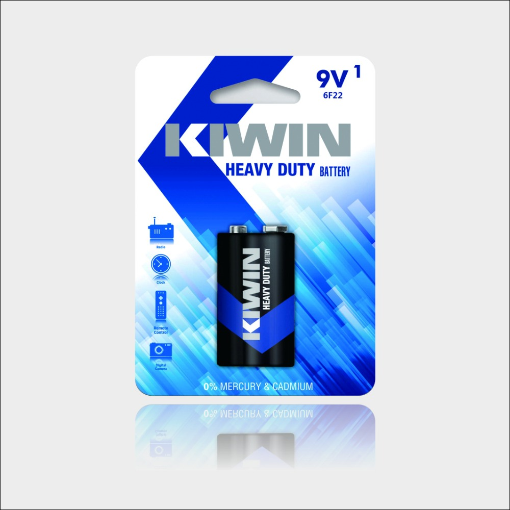 New product 9V Zinc Carbon Battery 6F22 dry battery