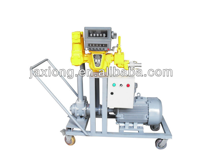 Tanker oil unloading machine / movable oil dispenser machine