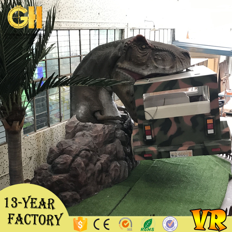 Gold hunter dinosaur park game products racing car simulator for kids children video game machine