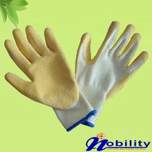 10guage white cotton crinkles grip work gloves