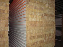 fireproof rockwool sandwich panel for warehouse insulated panels