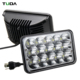 High Power Square Waterproof 3060lm 12v 24v Car Driving Light, 45W 4x6 Inch Truck Led Work Light