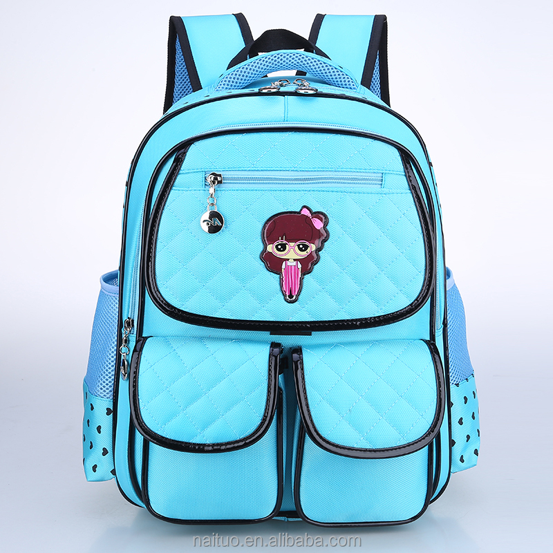 Blue Backsack Backpack Drawstring Gym Book School Bag back pack for kids
