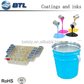Silicone Printing Ink white mainly applied to telephones and remote controllers' silicone keypads