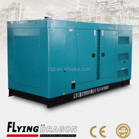 China factory directly sale, 550kva 3 phase Volvo diesel silent turbine generator with electric starter system