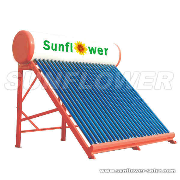 Outdoor Solar + Oil fired water heater Factory