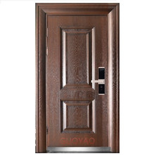 New designs iron steel security metal door China security single steel door