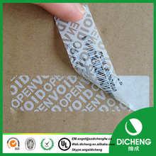 PET Material and Adhesive Sticker Type blank security void label