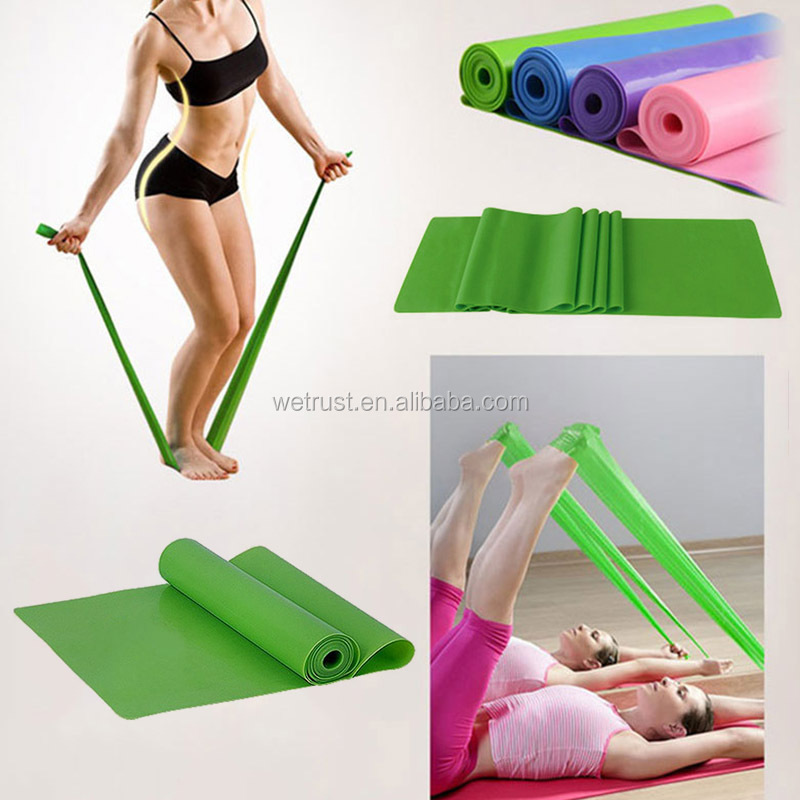 1.5m Yoga Pilates Stretch Resistance Band Workout Elastic Exercise Training Rubber Crossfit Fitness Yoga Stretching Strap