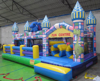 Special Design Full printing Inflatable Dragon Adventure Course Obstacle,inflatable jumping house adventure